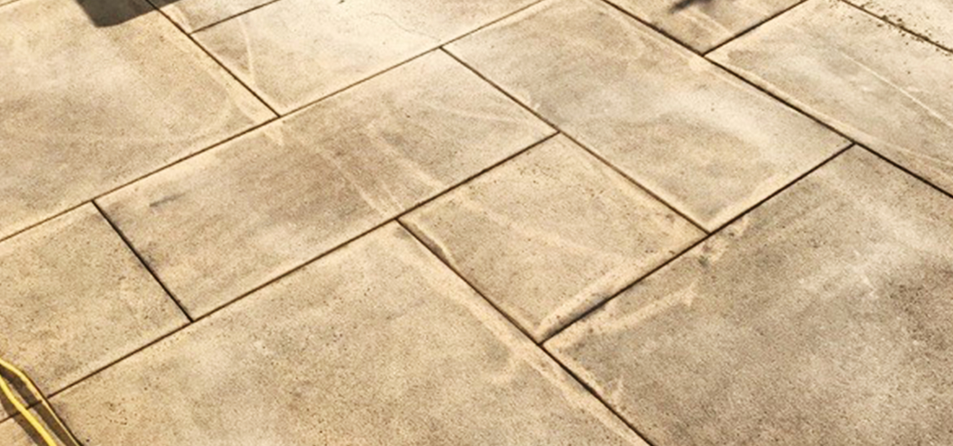 Pavers with dirt and grime build-up