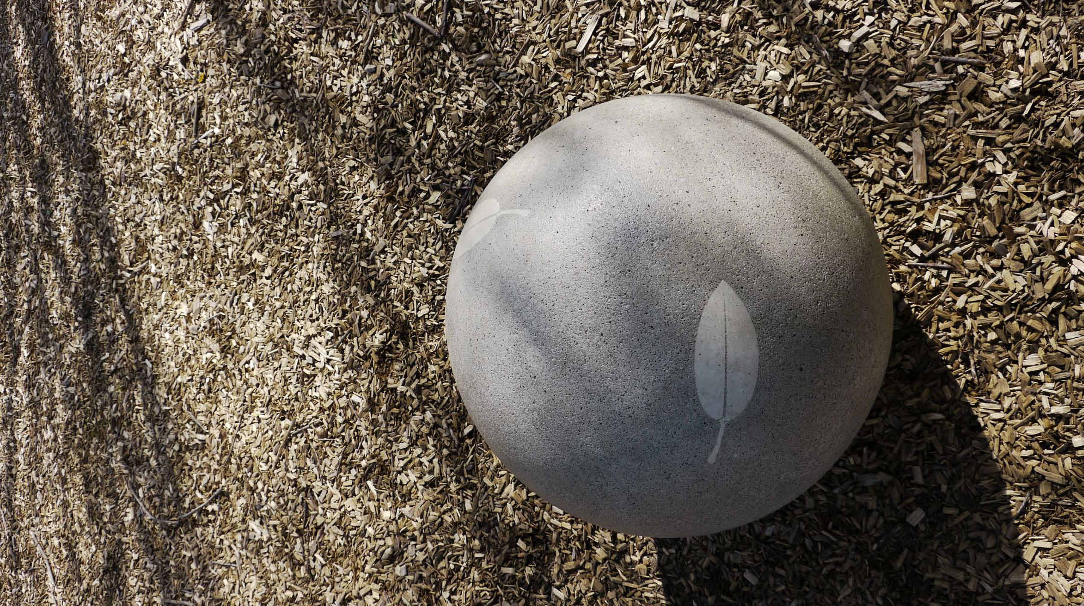 Fawkner Park Granite Sphere Leaf Print (2) - Copy