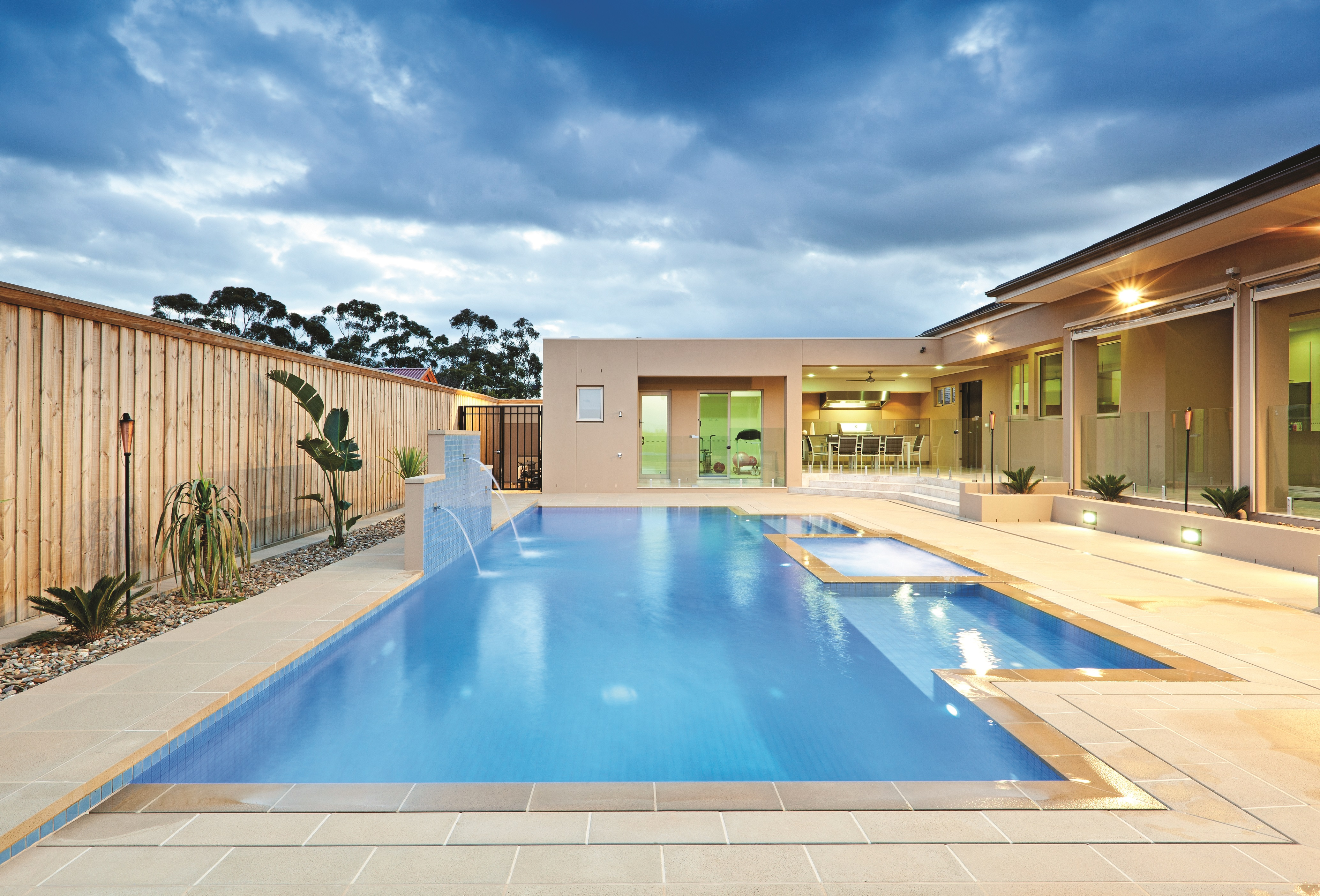 Neptune Pools Traditional Range Mixed Colours Square Edge Coping